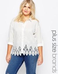 Рубашка с кружевной перфорацией по краю Alice & You - Белый