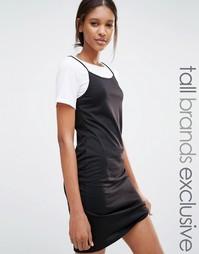 Платье-футболка 2 в 1 One Day Tall - Черный