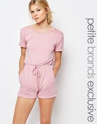 Комбинезон с завязкой и короткими рукавами One Day Petite - Розовый