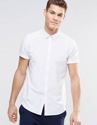 Белая рубашка классического кроя с короткими рукавами ASOS - Белый