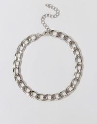 Ожерелье-цепочка под горло ASOS - Родий