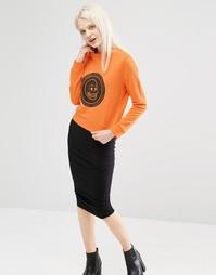 Свитшот с принтом-логотипом черепа Cheap Monday - Оранжевый