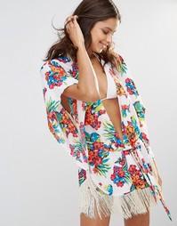 Пляжное кимоно с тропическим принтом Gossard - Multi1