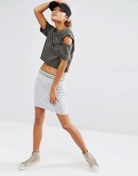 Трикотажная облегающая юбка с поясом в полоску Daisy Street
