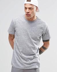 Серая меланжевая футболка в полоску Cheap Monday - Меланжевый