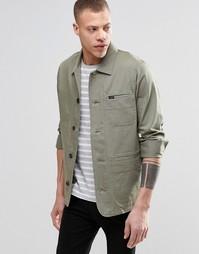 Куртка зауженного кроя с шевронным узором Lee - Ветиверовый зеленый