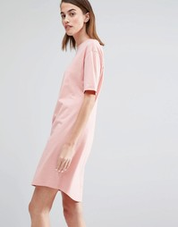 Платье-футболка Selected My Perfect - Розово-золотистый