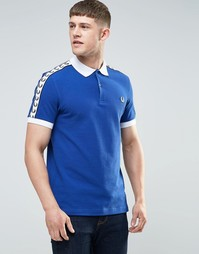 Синяя футболка-поло Fred Perry Italy - Кобальтовый
