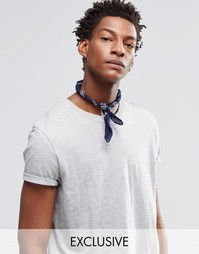 Темно-синий шейный платок с принтом пейсли Reclaimed Vintage