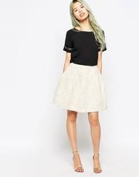 Пышная короткая расклешенная юбка Vero Moda - Oatmeal