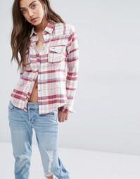 Клетчатая рубашка в стиле вестерн Hollister - Cream jacquard