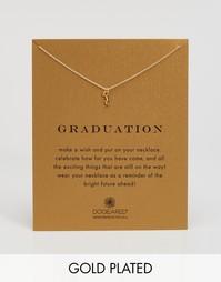 Позолоченное ожерелье с подвеской в виде ключа Dogeared Graduation