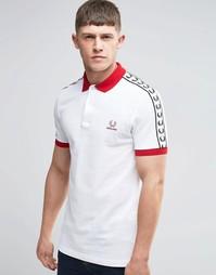 Белая футболка‑поло Fred Perry England - Белый