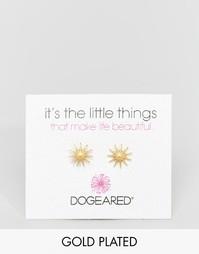 Позолоченные звездообразные серьги‑гвоздики Dogeared - Золотой