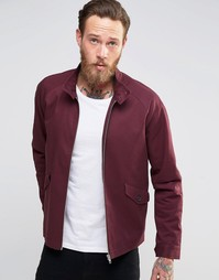 Бордовая куртка Харрингтон с воротником-трубой ASOS - Burgundy