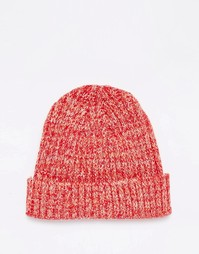 Красная шапка-бини в рыбацком стиле ASOS - Красный