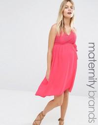 Платье для беременных с кружевным лифом Mamalicious Disa - Красный Mama.Licious