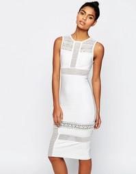 Бандажное платье‑футляр с кружевом ASOS SCULPT Premium - Белый