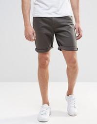 Джинсовые шорты слим темного цвета хаки ASOS - Forest night