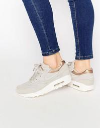 Замшевые кроссовки Nike Air Max 1 Premium - Серый