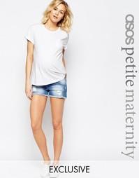 Джинсовые шорты для беременных ASOS Maternity PETITE - Светлый
