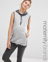 Домашнее худи без рукавов для беременных Bluebelle Maternity - Серый