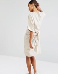 Трикотажное платье-футболка с завязкой на талии Daisy Street