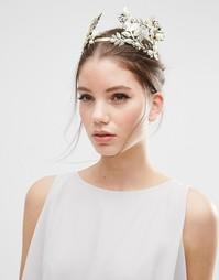 Броское украшение для волос с листиками ASOS - Золотой