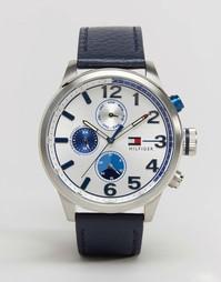 Часы с темно-синим кожаным ремешком Tommy Hilfiger Jackson 1791240