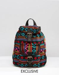 Черный гобеленовый мини‑рюкзак Reclaimed Vintage - Черный