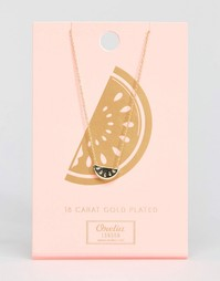 Ожерелье с подвеской арбуз Orelia - Золотой