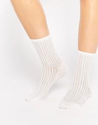 Ажурные носки Monki - Кремовый