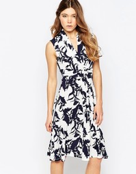 Платье-рубашка с принтом b.Young - Комби 1