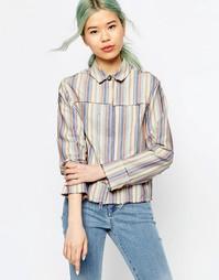Повседневная прямая рубашка в разноцветную полоску ASOS - Мульти