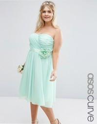 Шифоновое платье миди ASOS CURVE WEDDING - Зеленая мята