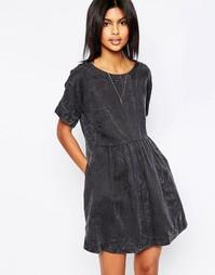 Платье с мраморным эффектом Pepe Jeans Lorette - 999 черный