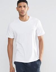 Белая футболка классического кроя с серебристым логотипом Hugo Boss
