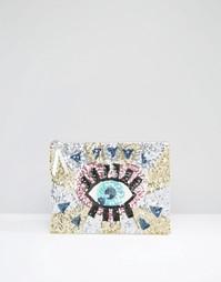 Клатч с рисунком глаза из пайеток ASOS - Мульти