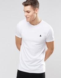 Белая футболка с круглым вырезом и логотипом ASOS - Белый