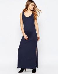 Трикотажное платье макси без рукавов b.Young - Parisian night
