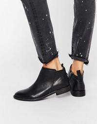 Черные кожаные полусапожки Hudson London Revelin - Черный
