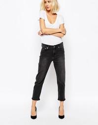 Укороченные джинсы с классической талией Weekday Ami - Черный