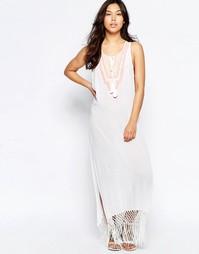 Пляжное платье макси с вышивкой Liquorish