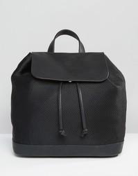 Сетчатый рюкзак с откидным верхом Pieces - Черный