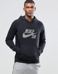 Черный худи Nike SB Icon 829372-010 - Черный