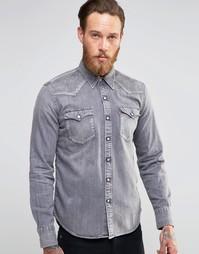 Серая джинсовая рубашка в стиле вестерн Levi's Barstow - Grey medium Levi's®