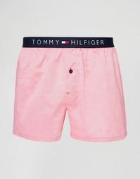 Тканые боксеры Tommy Hilfiger Icon Oxford - Розовый