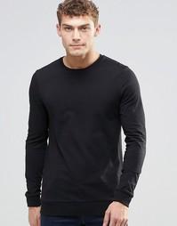 Легкий черный свитшот ASOS - Черный