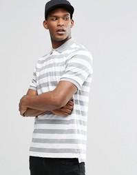 Серая футболка-поло в полоску Nike Matchup 727792-063 - Серый