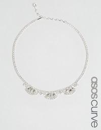 Ожерелье-чокер с камнями ASOS CURVE Bridal - Crystal
